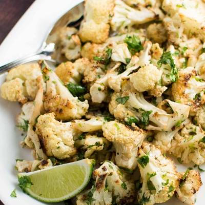 Cilantro Garlic and Lime Cauliflower