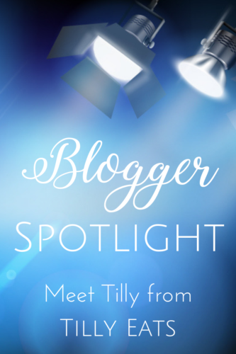 "Spotlights shining on the words ""Blogger Spotlight"""