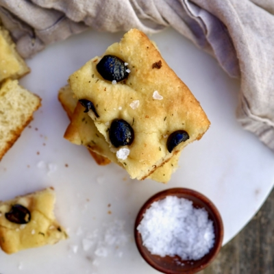 Rosemary, Black Olive And Sea Salt Focaccia