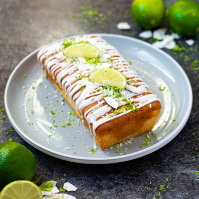 Lime and Coconut Loaf Cake