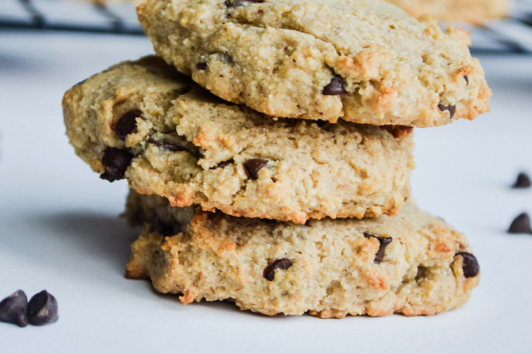 stacked Paleo Chocolate Chip Cookies