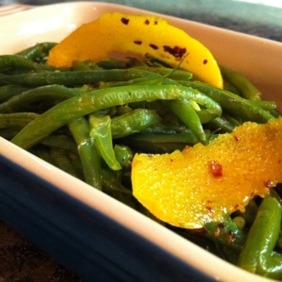 Green Beans with Chili-Orange Oil