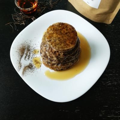 Hojicha Maple Pancakes