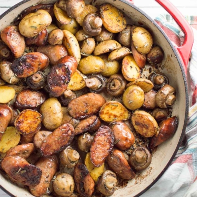 Rosemary Brown Butter Sausage Skillet