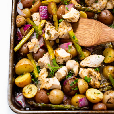 Sheet Pan Lemon Chicken with Vegetables