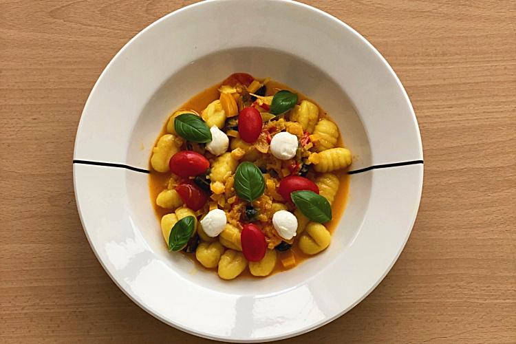 Vegetarian Gnocchi in a bowl