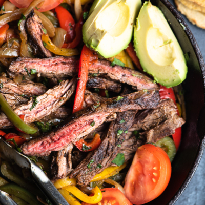 Whole 30 Skillet Steak Fajitas