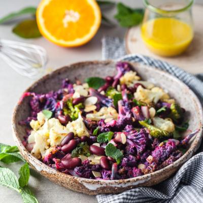 Winter Purple Cauliflower Salad