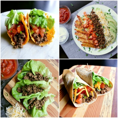 Low Carb Tacos – 4 ways