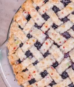lattice-top mulberry pie