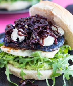 Portobella burger on a bun