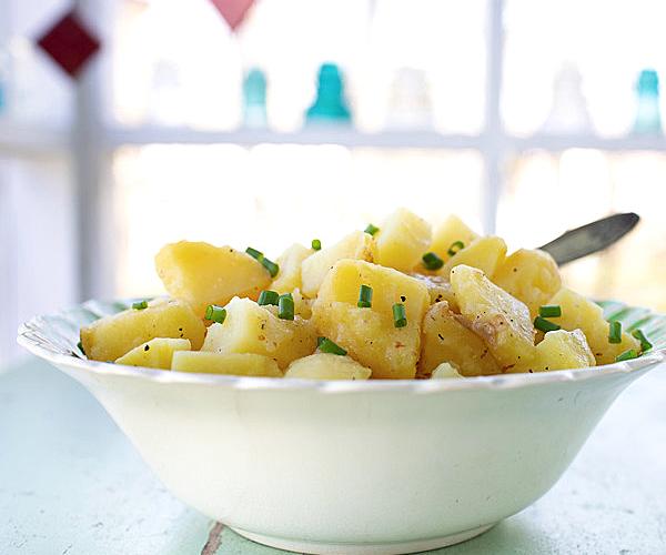 potato salad in a bowl