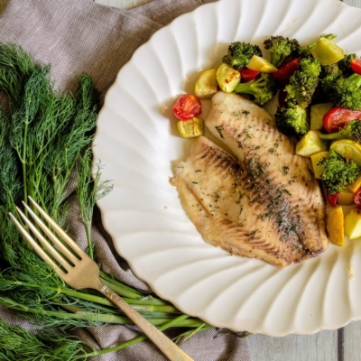 Sheet Pan Tilapia with Veggies