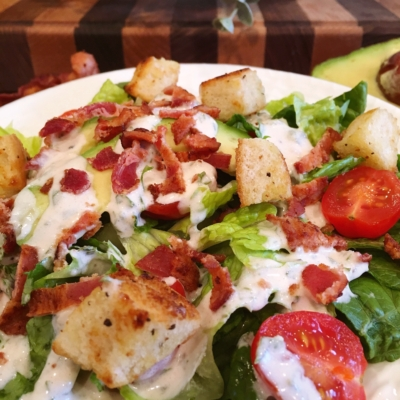 BLT Salad With Fresh Basil Dressing