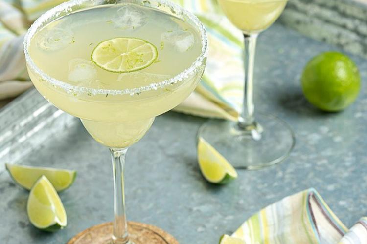 2 glasses of margaritas