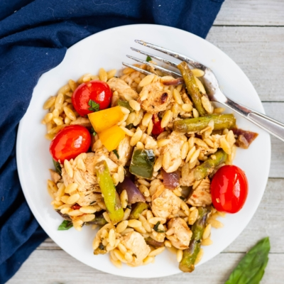 Brown Butter Chicken and Vegetable Orzo
