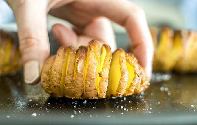 Hasselback Salt and Vinegar Potato