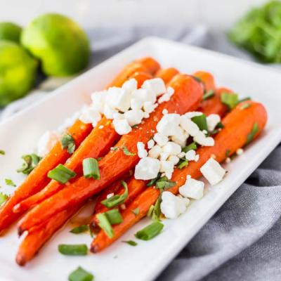 Honey Lime Roasted Carrots