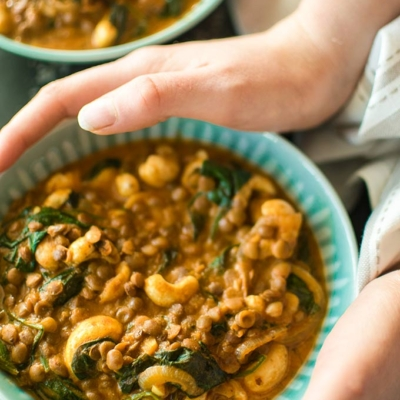 Creamy Cashew and Coconut Lentil Curry