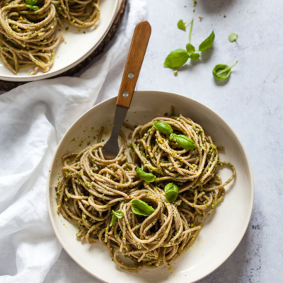 Vegan Green Pesto Pasta