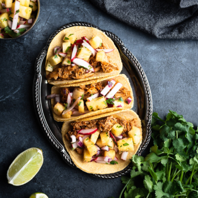 Pulled Pork Tacos & Pineapple Salsa