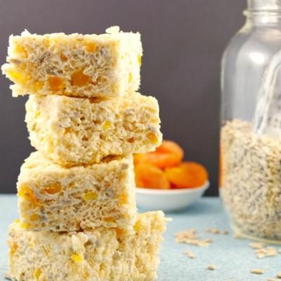 Apricot Sunflower Seed Rice Krispie Treats