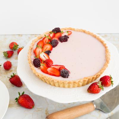 Strawberry Panna Cotta Tart Recipe