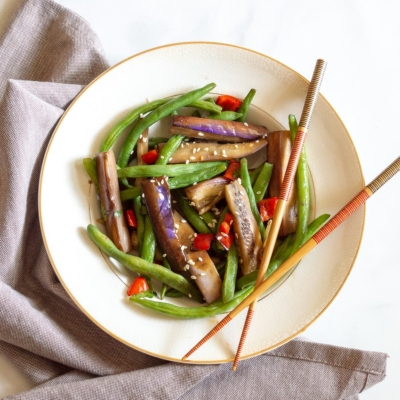 Spicy Eggplant & Green Beans