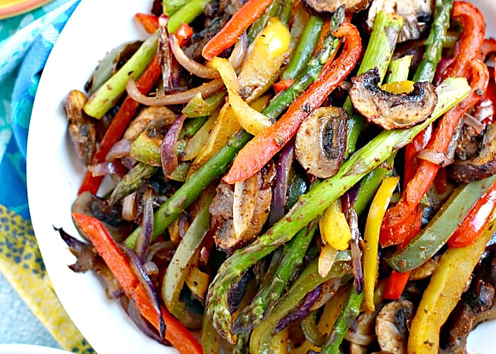 fajita veggies in a bowl