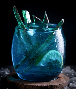blue Game of Thrones drink in a glass
