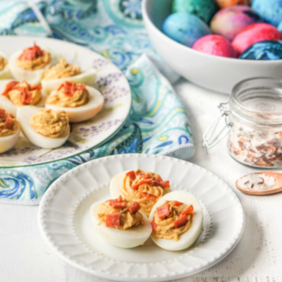 Pepperoni Pizza Deviled Eggs – Low Carb