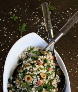 millet salad in a bowl