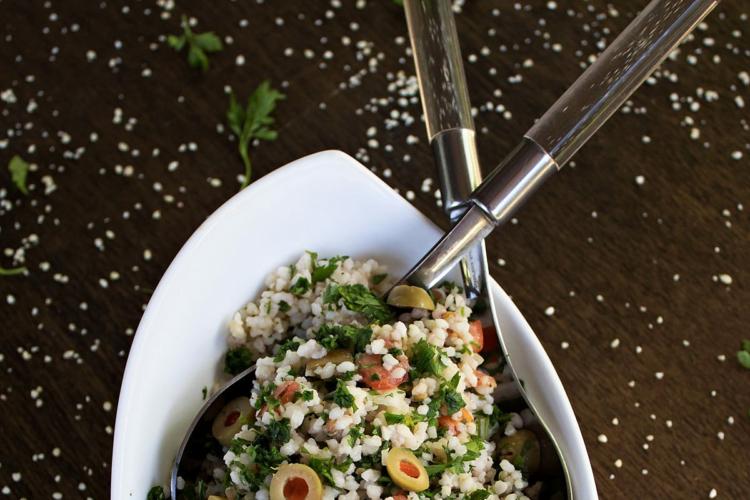 millet salad in a bowl
