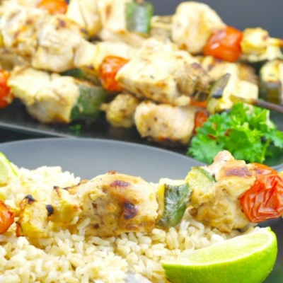 Maple Cider Grilled Chicken Kabobs