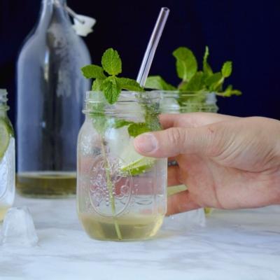 Refreshing Mint Lime Soda