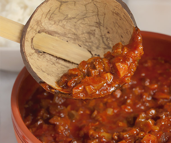 goan pork curry in a bowl