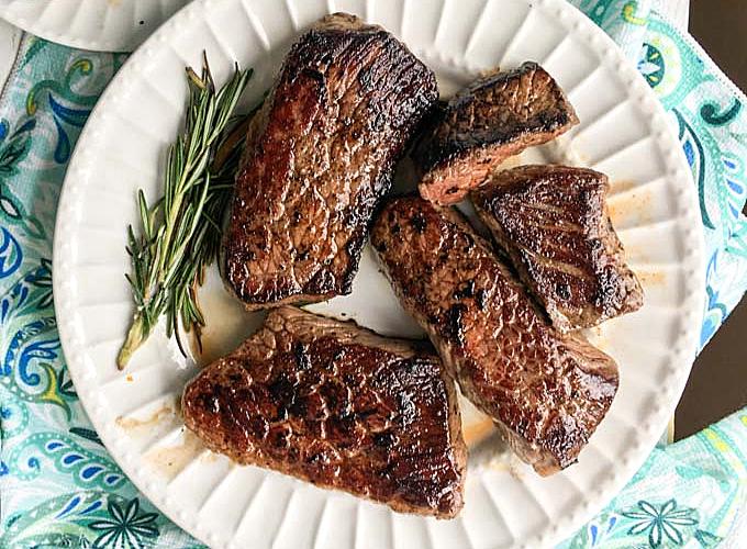 steaks on a plate