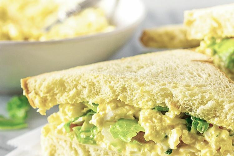 an egg salad sandwich