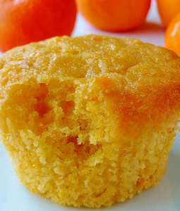 an orange muffin