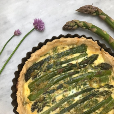 Asparagus Quiche with Fresh Herbs