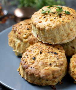 stacked Chilli cheese scones