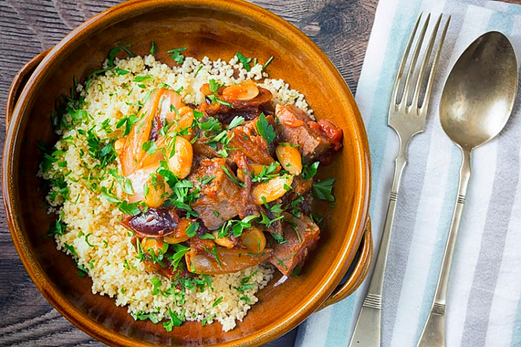 duck tagine in a bowl