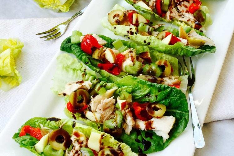 Chicken and apple boats