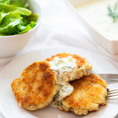 Fish Cakes with a light Tartar Sauce