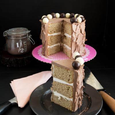 Vanilla Kahlua Cake with Kahlua Buttercream Frosting