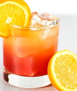 Malibu Bay Breeze cocktail in a glass