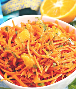 carrot salad in a bowl