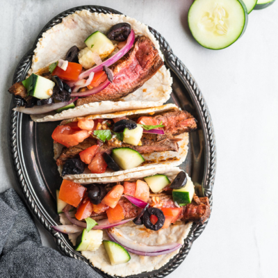 Paleo Steak Tacos with Greek Salsa