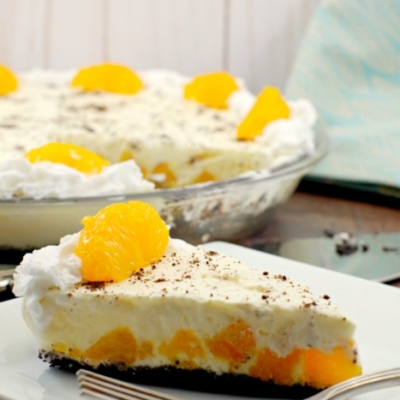 Orange Creamsicle Pie (Dairy-Free)