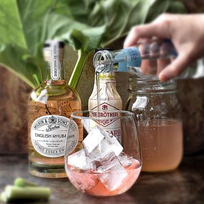 Rhubarb & Rose Water Gin Spritz